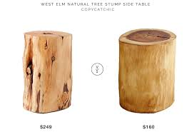 West Elm Tree Stump Side Table for $249 vs Pier 1 Natural Tree Stump Accent  Table