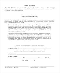 Waiver Of Liability Liability Release Waiver Form Template Images ...