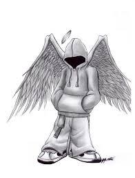 hood angel - Google Search   Angel, Hood, Humanoid sketch