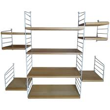large wall shelving unit by nisse strinning for string 1960s for at 1stdibs