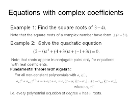 8 equations with complex coefficients
