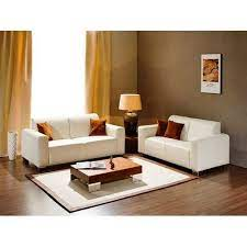 leather modern living room 4 seater