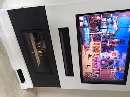 are you interested in mounting tv above fireplace. TV OVER FIREPLACE - ESSEX. GAZCO STUDIO 2 BALANCED FLUE GAS FIRE IN FALSE CHIMNEY BREAST BUILT WITH RECESS FOR THE TV, SONOS SOUNDBAR, DVD PLAYER. Are You Interested In Mounting Tv Above Fireplace