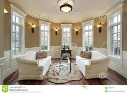 For Lighting In Living Room Living Room With Lighting Scones Royalty Free Stock Photography