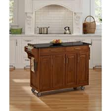 home styles create a cart natural kitchen cart with black granite top 9200 1014 the home depot