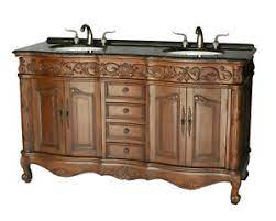 60 Inch Antique Style Double Sink Bathroom Vanity Model 7760 B Ebay