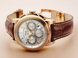 best rose gold watches for men the carl f bucherer patravi chronodate sports a stunning 42 mm case made of 18 kt pink gold