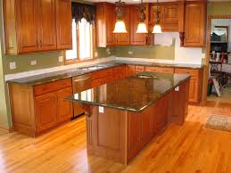 kitchen island ideas with types of kitchen countertops