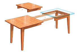 dining table leaves in extension finewoodworking ideas 12