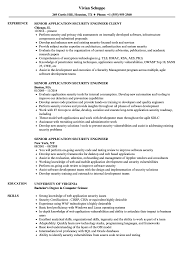 Download Senior Application Security Engineer Resume Sample as Image file