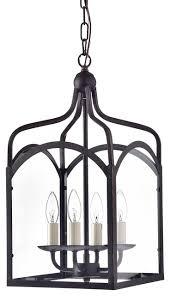4 light antique bronze glass lantern pendant chandelier