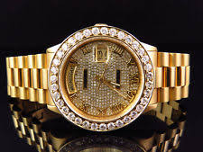 men s rolex watches new used vintage mens 36 mm rolex president 18038 18k yellow gold day date 6 5 ct diamond