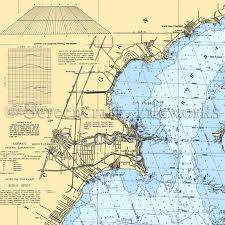 Lake Michigan Nautical Chart Michigan Harrison Township Lake St Clair Nautical Chart Decor