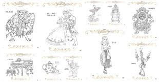 Small Picture Coloring Pages and More from Disneys Beauty and the Beast