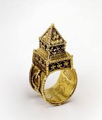 a jewish wedding ring like this one can be see at the jewish museum of art history in paris