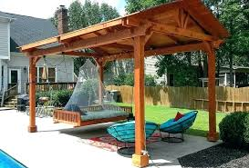 free standing patio cover fascinating stand alone how to build a freestanding out of wood covered plans do it yourself