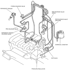 9 vacuum hose routing diagram for the 1994 california and 1995 98 626 mx 6 with the 2 0l engine