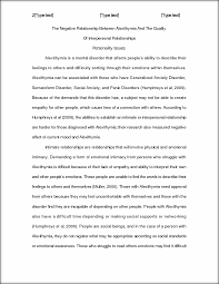 the negative relationship between alexithymia and the quality of  view full document