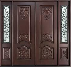 Tamil Nadu Front Double Door Designs Front Door Custom Double Solid Wood With Dark Mahogany