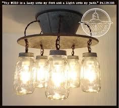 furniture amusing canning jar chandelier 7 img2l wrought iron