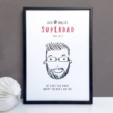 personalised super dad daddy or grandad gift