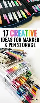 handlettering creative ideas for marker and pen storage diy portable travel desk