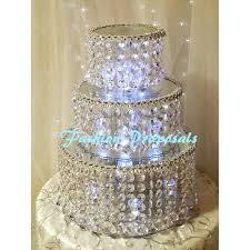 wedding cake stands stand cascade waterfall crystal by awesome for weddings full size johannesburg