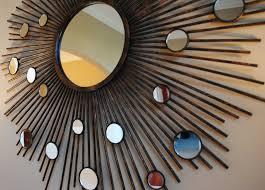 image of sunburst mirror wall decor