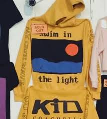 Swim In The Light Kid Cudi Cpfm Kid Cudi Coachella 2019 Yellow Hoodie Swim In The Light