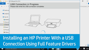 installing an hp printer with a usb connection using full feature drivers