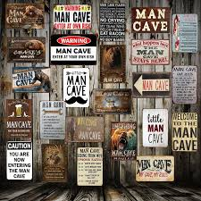 [ <b>Mike86</b> ] <b>Man</b> Cave Rule ENTER AT YOUR OWN RISK Metal Tin ...