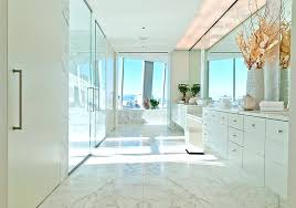 Contemporary Master Bathroom Modern Bright White Master Bath
