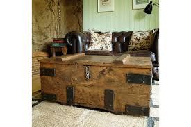 vintage industrial chest storage trunk coffee table mid century tool chest rustic wooden chest solid oak