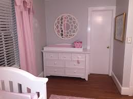 Baby girl nursery with gray and pink Wall paint Benjamin Moore
