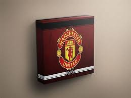 manchester united football logo canvas art print various sizes on manchester united wall art with manchester united logo canvas print wall art ready to hang large new