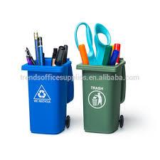 office pen holder. creative office gifts abs loop pen bin trash can plastic pencil holder for desk
