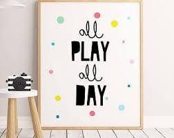 etsy playroom wall art