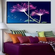 2 pcs best purple flower home decor canvas wall art picture living room canvas print modern on canvas wall art purple flowers with 2 pcs best purple flower home decor canvas wall art picture living