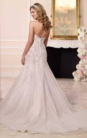 strapless silver lace wedding dresses stella york wedding dresses