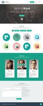 flat style single page website design template psd tools flat style single page website design template psd