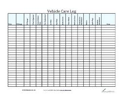 Fleet Vehicle Maintenance Log Template Car Checklist Form Sample ...