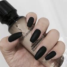 24pcs set matte black artificial coffin nails las nail art decoration full cover false nail