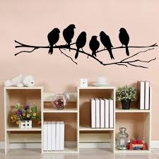 8526cm diy wall stickers decal removable black bird tree branch art home mural wall aliexpresscom buy office decoration diy wall