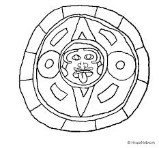 Mayan Calendar Coloring Page Coloringcrewcom