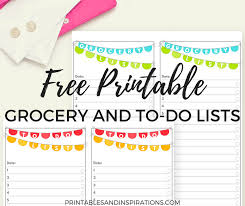 To Do List Charts Free Printable To Do List And Grocery List Printables And Inspirations