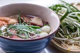 Vietnamese Pork & Seafood Noodle Soup ...