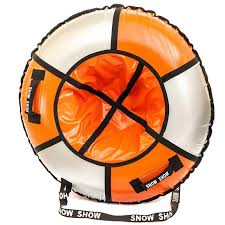<b>Тюбинг SnowShow Практик 120cm</b> Orange Silver картой - ElfaBrest