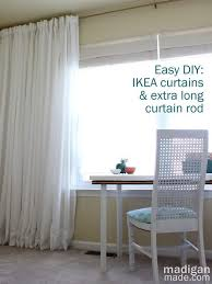 how can you make your own long curtain rod great tips in this article