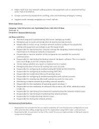Business Admin Career Objective Administration Resume Printable