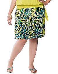 Lane Bryant Shoe Size Chart Lane Bryant Tropical Palm Print Flippy Knit Skirt Womens Plus Size